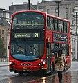 London Central bus WVL275 (LX59 CYO) 2009 Volvo B9TL Wrightbus Eclipse Gemini 2, London Bridge, route 21, 22 June 2011.jpg