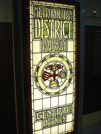 London Transport Museum - Image: London Transport glass door
