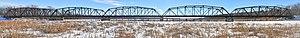 Cedar Avenue Bridge (Minnesota River) - The Long Meadow/Old Cedar Avenue Bridge in January 2014
