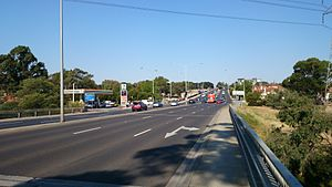 State (Bell/Springvale) Highway - Image: Looking eastbound on Bell Street in Coburg