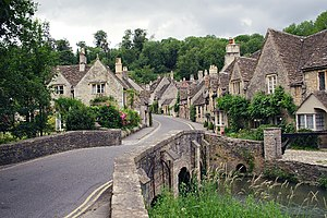 War Horse (film) - Castle Combe in Wiltshire, another filming location.