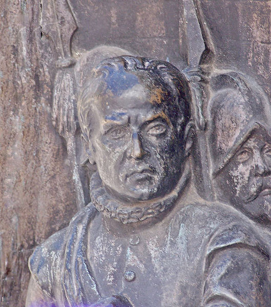 File:Lope-de-Figueroa.detalle del bajorrelieve de El alcalde de Zalamea en el munumento a Calderon en la plaza de santa Ana de Madrid.jpg