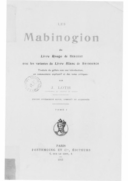 File:Loth - Mabinogion, tome 1.djvu