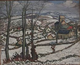 Louis Charlot - Village under snow.jpg