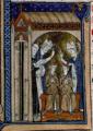 Louis III et Carloman furent couronnés rois en 879 par l'archevêque de Sens Anségise, dans l'abbaye bénédictine Saint-Pierre-et-saint-Paul de Ferrières en Gâtinais.png