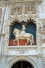 equestrian statue of Louis XII