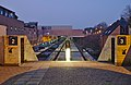 Louvain-la-Neuve train station- stairways leading to track 2 and 3 (Belgium, DSCF4229).jpg