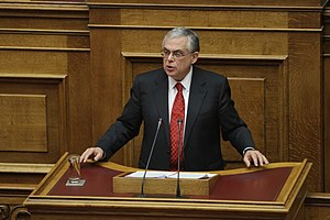 Lucas Papademos - Prime Minister Papademos speaking to the Hellenic Parliament on 14 November 2011