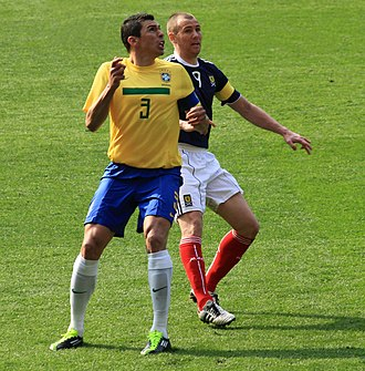 Lúcio - Lúcio playing for Brazil in 2011