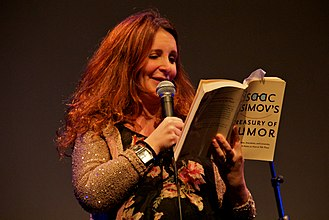 Wallington High School for Girls - Lucy Porter in November 2011 at the Bright Club