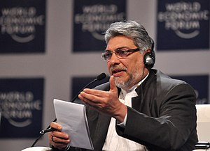 Fernando Lugo - Fernando Lugo at the World Economic Forum in Cartagena de Indias, Colombia, April 2010