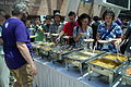 Lunch on Day 3 of Wikimania 2013, Chapters Village, Logo Square, Hong Kong Polytechnic University - 20130811-04.JPG
