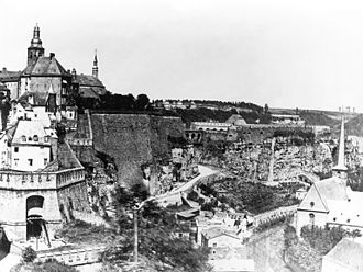 Luxembourg - Photograph of the fortress of Luxembourg prior to demolition in 1867