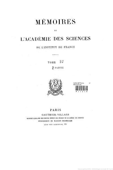 File:Mémoires de l'Académie des sciences, Tome 37, partie 2.djvu