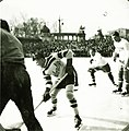 Műjégpálya, a kanadai Kimberley Dynamiters jégkorongcsapat vendégjátéka a magyar válogatott ellen 1937. január 10-én. Fortepan 85172.jpg