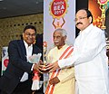 M. Venkaiah Naidu presented the HMTV and Hans India Business Excellence Awards 2017, at a function, in Hyderabad.jpg
