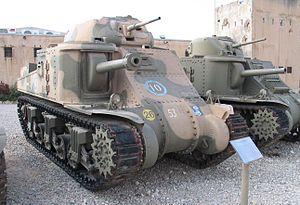 M3 Grant közepes harckocsi az izraeli Yad la-Shiryon Múzeumban