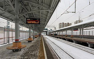 Sokolinaya Gora (Moscow Central Circle) - Image: MCC 01 2017 img 05 Sokolinaya Gora station