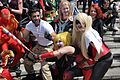 MCM 2013 - Marvel Comics group & Harley Quinns (8978378601).jpg