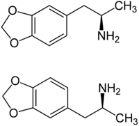 Struktur von 3,4-Methylendioxyamphetamin