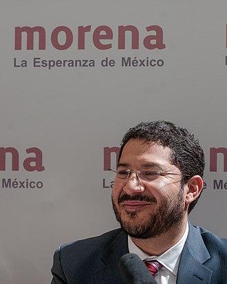 Martí Batres - Image: MORENA, viento en popa Martí Batres (8428107351)