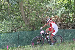 MTB cycling 2012 Olympics M cross-country POL Piotr Brzozka.jpg