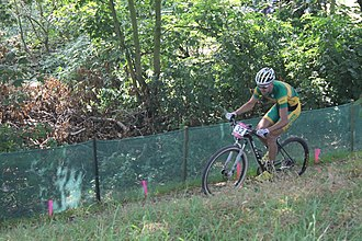 South Africa at the 2012 Summer Olympics - Image: MTB cycling 2012 Olympics M cross country RSA Philip Buys