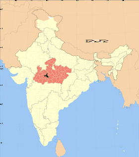 Madhya Pradesh district location map Sehore.svg