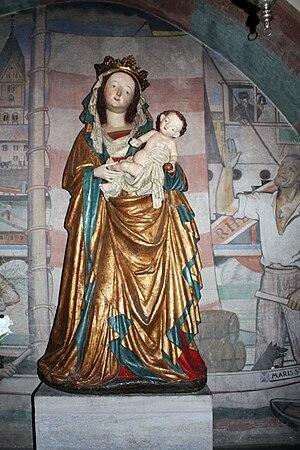St. Maria Lyskirchen, Cologne - Image: Madonna um 1420 St Maria Lyskirchen Köln