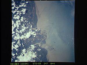 Mahury - NASA photograph near Cayenne