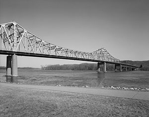 Winona, Minnesota - Main Channel Bridge, built in 1942