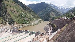Neelum–Jhelum Hydropower Plant dam in Muzaffarabad, Azad Kashmir