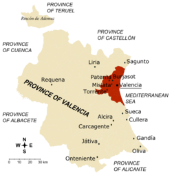 Not Hemingways Spain Similiar Valencia Map Location --