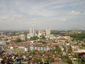 English: View of Malacca City in Malaysia.