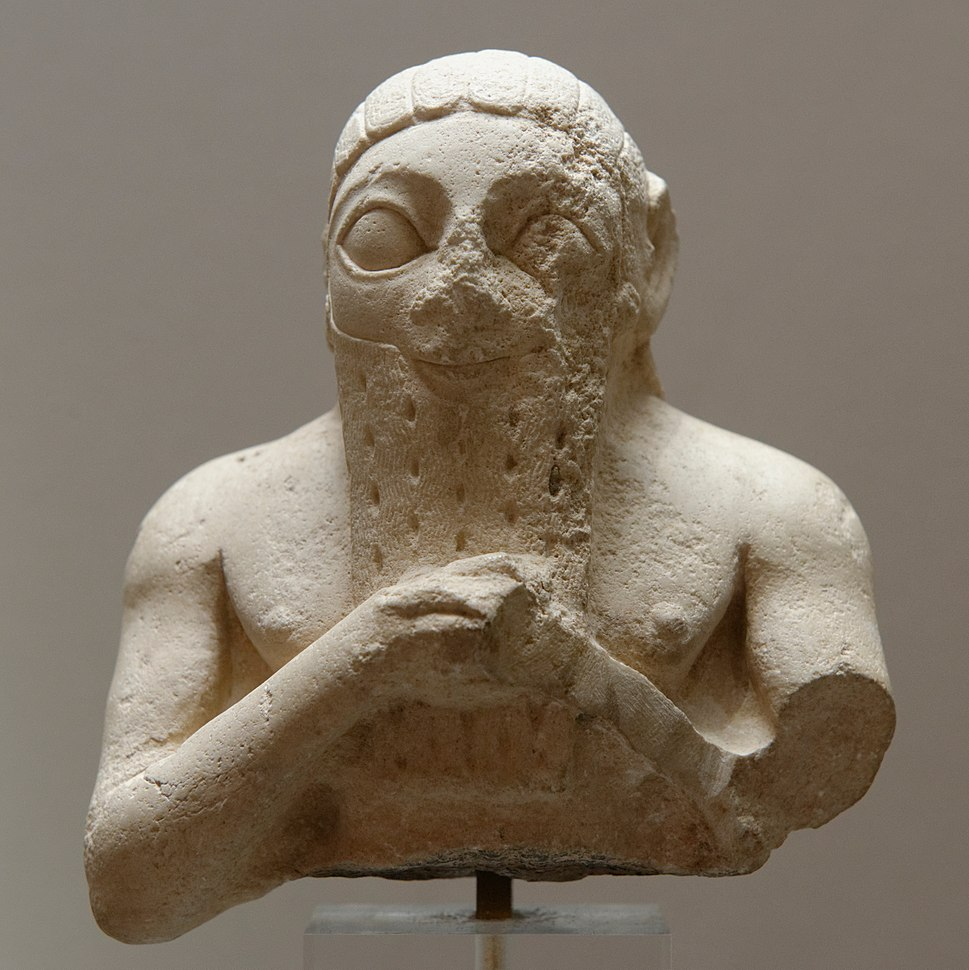 Male bust Louvre AO10921