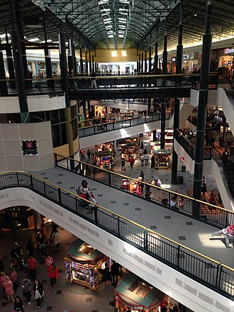 Mall of America - The Mall of America has three levels on its West side, pictured above.