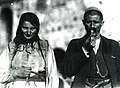 Man and woman of the northern Albanian highlands in typical folk costume (Carleton Coon, 1929).jpg