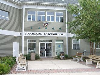 Manasquan, New Jersey - Manasquan Borough Hall, at the intersection of Main Street and Union Avenue