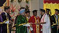 Manmohan Singh presented degree to the students at the third convocation of the Jawaharlal Institute of Postgraduate Medical Education and Research (JIPMER), in Puducherry. The Union Minister for Health and Family Welfare.jpg