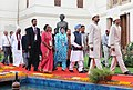 Manmohan Singh with the Speaker, Lok Sabha, Smt. Meira Kumar and the Speakers of Parliaments of SAARC Countries arriving at the inauguration of the Fifth Conference of Association of Speakers and Parliamentarians.jpg