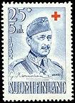 Маршал Маннергейм на марке Финляндии, 1952