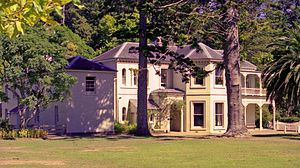 Kawau Island - View of Mansion House in July 2006