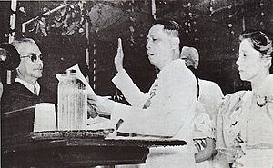 Manuel Roxas - President Manuel Roxas was inaugurated as the 5th President of the Philippines and the first president of the Third Republic on July 4, 1946 at the Independence Grandstand (now Quirino Grandstand), Manila.