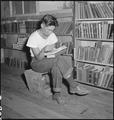 Manzanar Relocation Center, Manzanar, California. A barrack building has been turned into a library . . . - NARA - 538175.tif