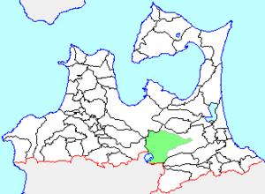 Towadako, Aomori - Image: Map.Towadako Town.Aomori