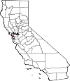 State map highlighting San Francisco County