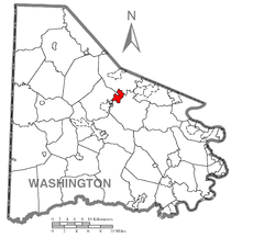 Location of Canonsburg in Washington County
