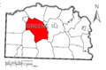 Map of Center Township, Greene County, Pennsylvania Highlighted.png