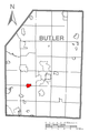 Map of Connoquenessing, Butler County, Pennsylvania Highlighted.png