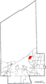 Map of Cuyahoga County Ohio Highlighting East Cleveland City.png
